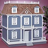 Real Good Toys Real Good Toys Williamsburg Dollhouse Kit - 1 Inch Scale, Milled MDF Wall Finish, Medium Density Fiberboard