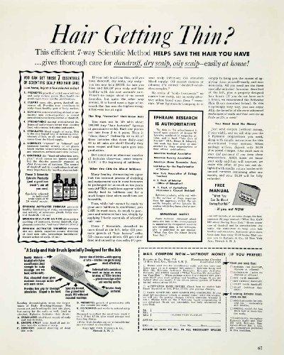 1948-ad-hair-brush-scalp-thinning-ephraim-shampoo-oil-massage-activator-baldness-original-print-ad