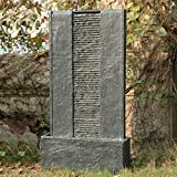 """32"""" Flat Rock Waterfall Fountain - Indoor/Outdoor Water Feature Great for Patios and Gardens"""