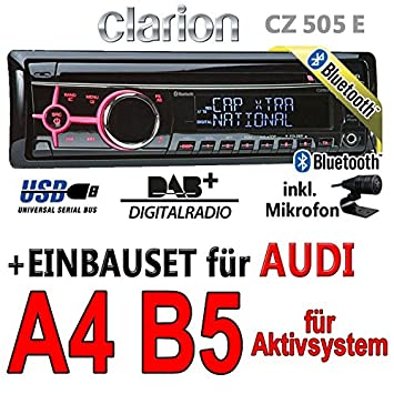 Audi a4 b5 actif-clarion cZ505E-digital avec bluetooth/dAB