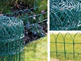 NEW 10M/20M/30M/40M X 0.25M GREEN PVC COATED GARDEN BORDER FENCE FENCING WIRE MESH
