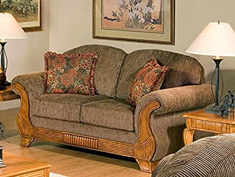 Chelsea Home Furniture Aster Loveseat, Torrey Tomato with Jada Tomato Pillows
