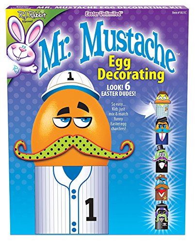 Mr. Mustache Easter Egg Decorating Kit - 1
