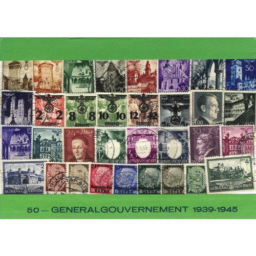 Polish Collectible Postmarked Stamp Sets - 50 from 1939-1945