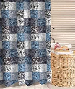 Thickening Waterproof Texture Checkered Elements Shower Curtain Polyester 180*180 cm