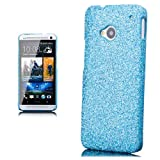 ICues 4250786214825 Glittery Cover with Display Film for HTC One M7 Blue