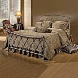 Hillsdale Furniture 1298BQR Silverton Bed Set with Rails, Queen, Brushed Silver