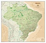 National Geographic Maps Brazil Executive, tubed Wall Maps Countries & Regions (National Geographic Reference Map)