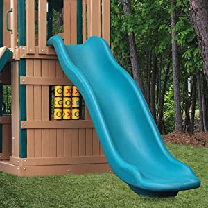 Green Rave Slide Optional Accessories for 7' Deck Height - Slide Upgrade for Play Sets