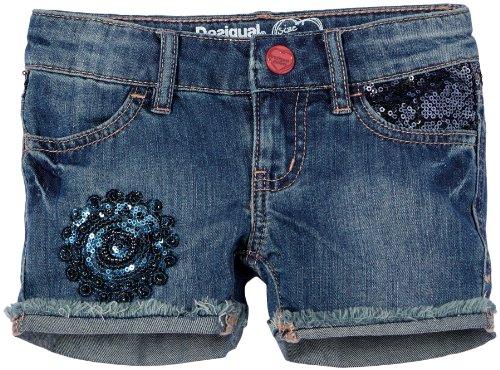 Desigual Luxe - Pantaloncini, bambina, Blu (Blau (Estate Blue)), 104 cm