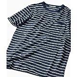 シップス(メンズ)(SHIPS) SC: スペック染め マリンボーダー クルーネック ポケット Tシャツ【78ネイビー/M】