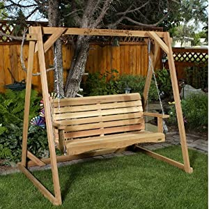 CEDAR SWING-A-FRAME /w 5ft. Swing Outdoor Patio Furniture AND
