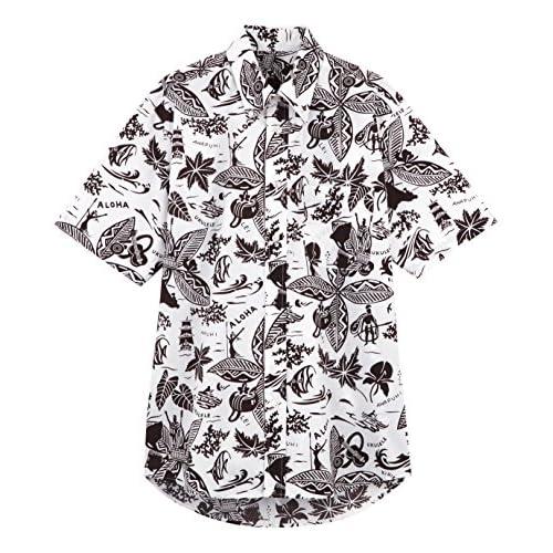 (フェイスミックス)FACEMIX アロハシャツ FB599U 5 ブラウン L