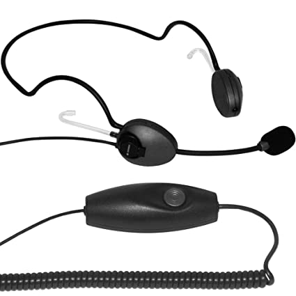 IMTRADEX cabled neckband Headset AirTalk NBD binaural with ergonomic PTT-19 (Push-To-Talk) send button for PC's and various control centers programs with USB, ASP, NC