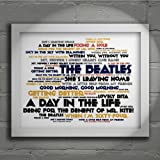 `Cadence` Art Print - THE BEATLES - Sgt. Pepper's Lonely Hearts Club Band - Signed & Numbered Limited Edition Typography Wall Art Print - Song Lyrics Mini Poster