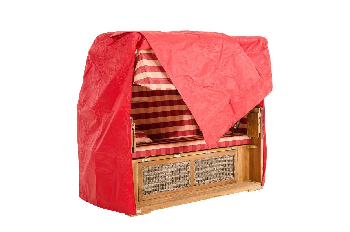 CLP Abdeckhaube für Strandkorb Helgoland, Kunststoff, Farbwahl, Maße ca: Höhe: 175 cm, Breite: 165 cm, Tiefe: 100 cm rot online bestellen