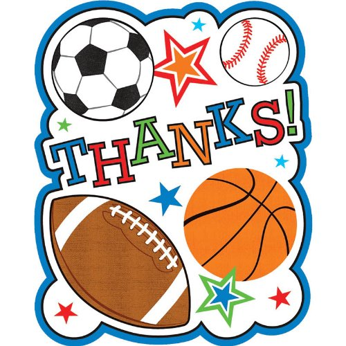 Sports Party Thank You Notes