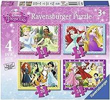 Comprar Princesas Disney - Puzzle 4 en 1 con 12, 16, 20 y 24 piezas (Ravensburger 07397 9)