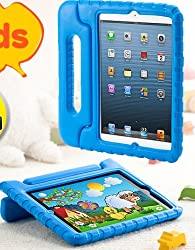 サンワダイレクト iPad mini ケース 子ども用 スタンド機能付 衝撃吸収 ブルー 200-PDA107BL