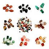 Healing Stones Pendants Irregular Healing Crystal chakra Gemstone Point Wholesale Quartz Rock Quartz Charms Pendants for Necklace Jewelry Making (100pcs) (Color: Mutilcolor, Tamaño: 100pcs)
