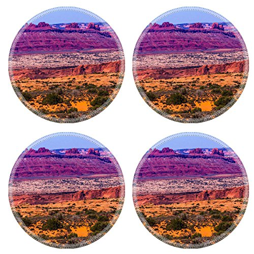 luxlady-natural-rubber-round-coasters-image-id-24253431-colorful-yellow-grass-lands-red-canyon-moab-