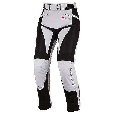 Modeka bREEZE lADY pantalon en textile pour femme-noir/gris
