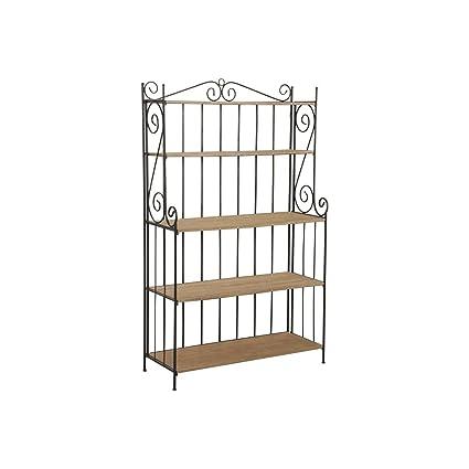 Estantería plegable de metal y madera