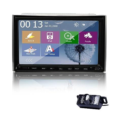 7 pouces 2 Din pour tableau de bord de GPS Navi Autoradio DVD CD MP3 Radio Bluetooth iPod Photo