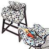 Crocnfrog 2-in-1 Shopping Cart & High Chair Cover for Baby- Machine Washable, Free eBook