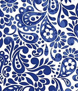Amazon.com: Batik Scroll Royal Blue Gift Wrapping Roll 24