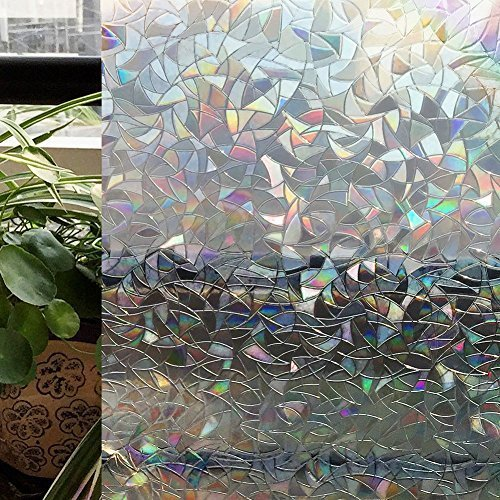CottonColors Premium No-Glue 3D Static Decorative Window Films, 35.4In X 78.7In.(90 x 200Cm) (Windows Film Privacy compare prices)
