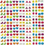 Crystal Stick-on Stones Gems Stickers Self-Adhesive Glitter Shapes Kids Crafts Art Supplies (Pack of 280)