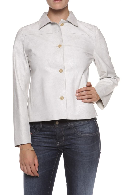 Cristiano di Thiene Damen Jacke Lederjacke MALTA, Farbe: Hellgrau bestellen