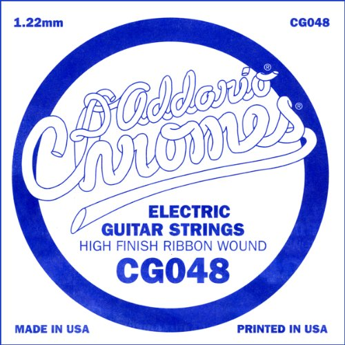 D'Addario Cg048 Flat Wound Electric Guitar Single String, .048