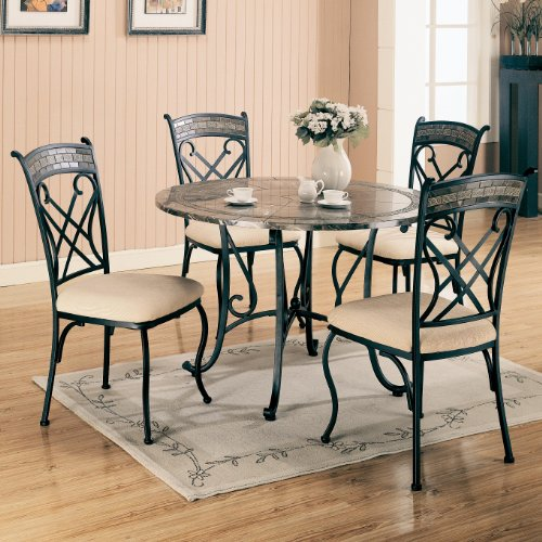 ... 5pc Round Dining Table Set (COAS120661_120662_5PC) (Dining Tables