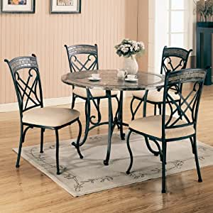 5pc Round Dining Table Set Table Chair Sets
