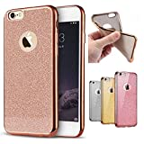 Visibee - Rose Gold iPhone SE iPhone 5 5s Case, Bling Glitter Detachable Ultra-Thin Electroplating Technology Soft Gel TPU Silicone Case