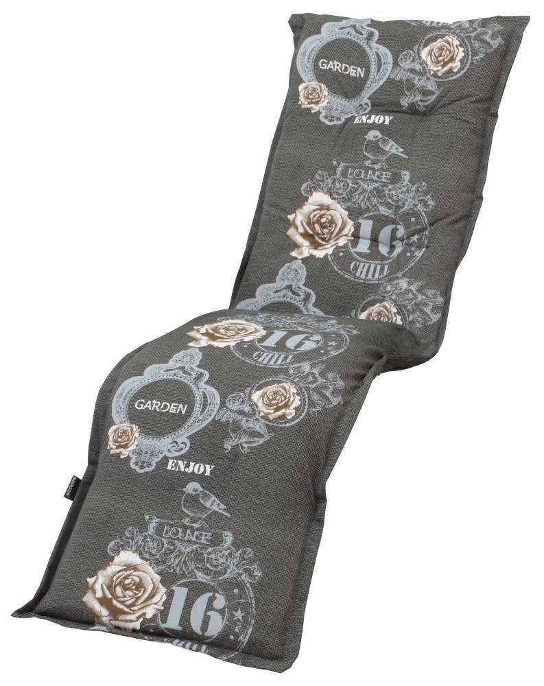 2 Stück MADISON Dessin Duck Textil-Auflage für Relaxsessel, 75% Baumwolle, 25% Polyester, 160 x 50 x 8 cm, in grau