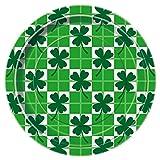 Saint Patrick s Day Clover Check Dinner Plates, 8ct