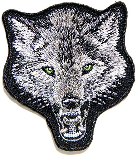 Fox Dog Wolf Wild Animal Jacket T shirt Patch Sew Iron on Embroidered Applique Badge Custom Gift