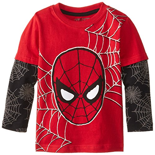 Marvel Little Boys' Spider-Man Web Long-Sleeve T-Shirt