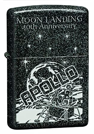Fox Moon Landing Galaxy Zippo Lighter, Black