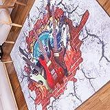 (OSJ)ラグ マット カーペット じゅうたん 3Dゴブラン織り シェニールラグ 、滑り止め床暖房対応 ホットカーペット対応 (200×250㎝, guitar)