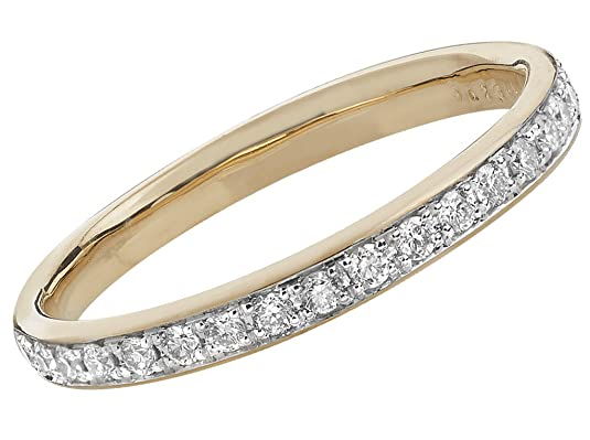 9ct Gold Diamond Eternity Ring 1/2 Grain Set 2.2mm