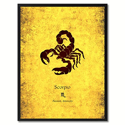 Scorpio-Horoscope-Astrology-Canvas-Print-Picture-Frame-Home-Decor-Wall-Art-Gift