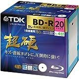 【Amazon.co.jp限定】TDK 録画用ブルーレイディスク 超硬シリーズ BD-R DL(長時間2層ディスク) 50GB 1-4倍速 ホワイトワイドプリンタブル 20枚パック 5mmスリムケース ATBRV-50HCPWB20Z