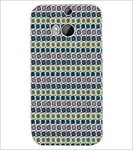 HTC ONE M8 CIRCLE PATTERN Designer Back Cover Case By PRINTSWAG