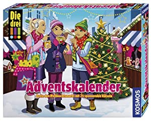 Kosmos 631703 - Die drei !!! Adventskalender, Rette den Weihnachtsmarkt, 2014