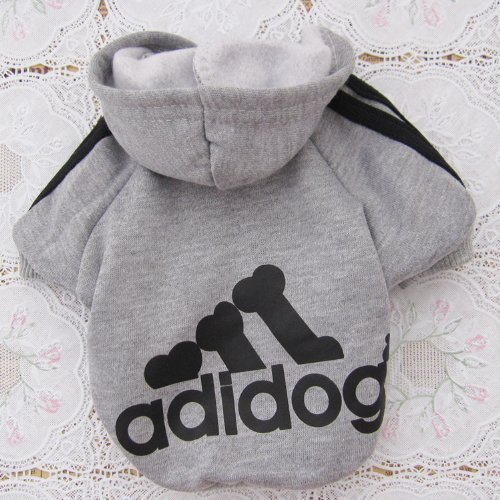 Angel-Mall-Adidog-Hoodie-Pet-Clothes-Dog-Sweater-Puppy-Sweatshirt-Warm-Small-Coat-Christmas-Gift-1-pc-Set-Grey