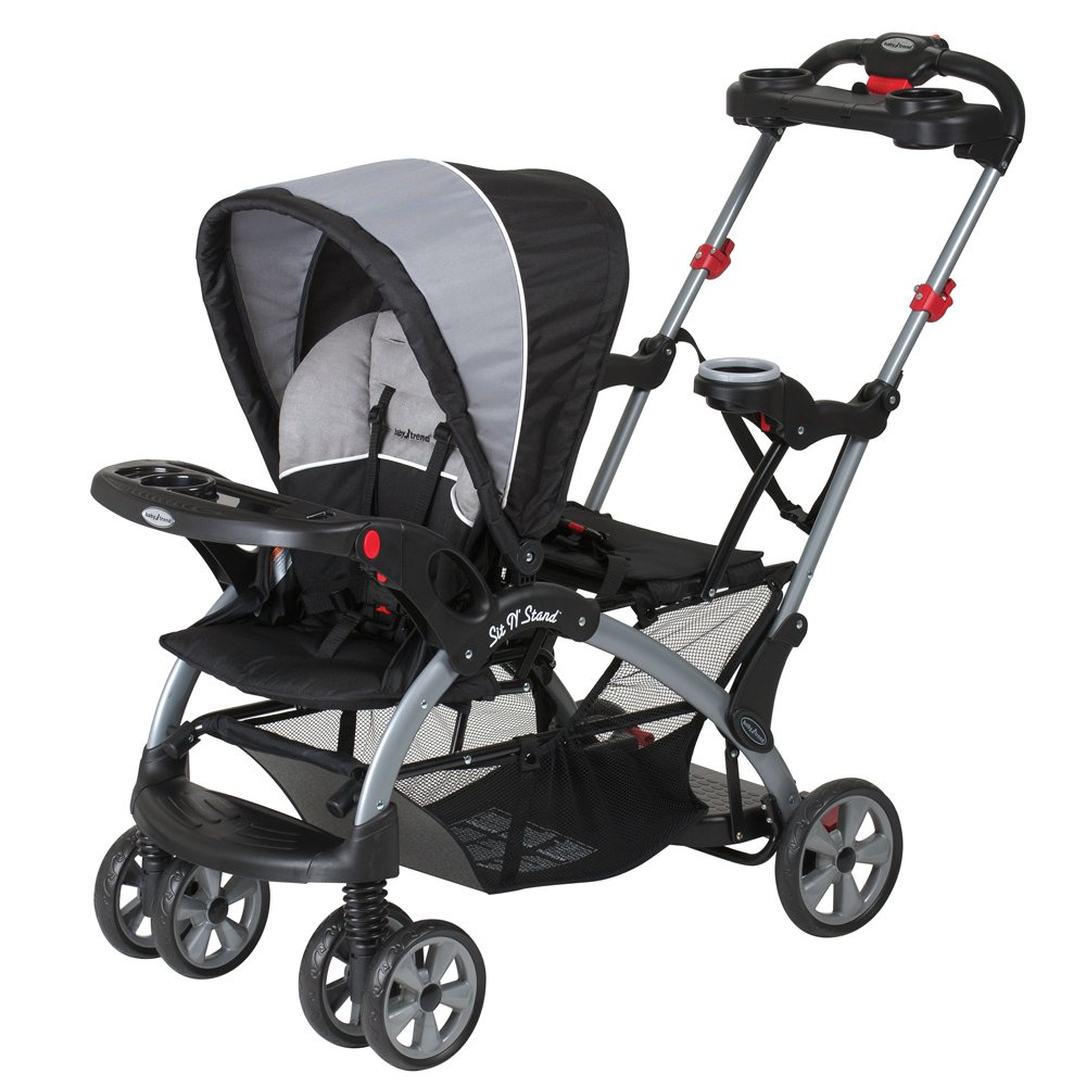 baby trend sit n stand ultra tandem stroller phantom phantom ebay. Black Bedroom Furniture Sets. Home Design Ideas